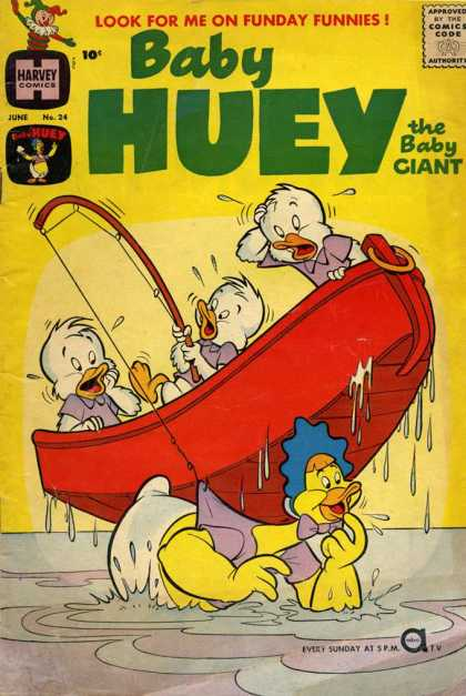 Baby Huey the Baby Giant 24 - The Baby Giant - Fishing - Boat - Baby - Harvey