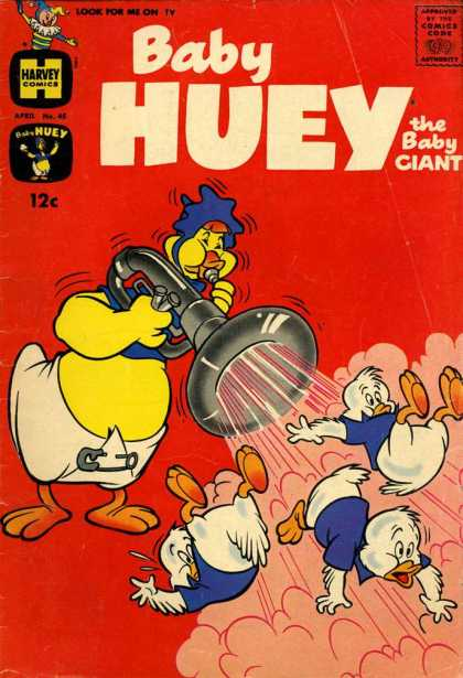 Baby Huey the Baby Giant 45 - Ducks - Diaper - Tuba - Harvey - Shirt