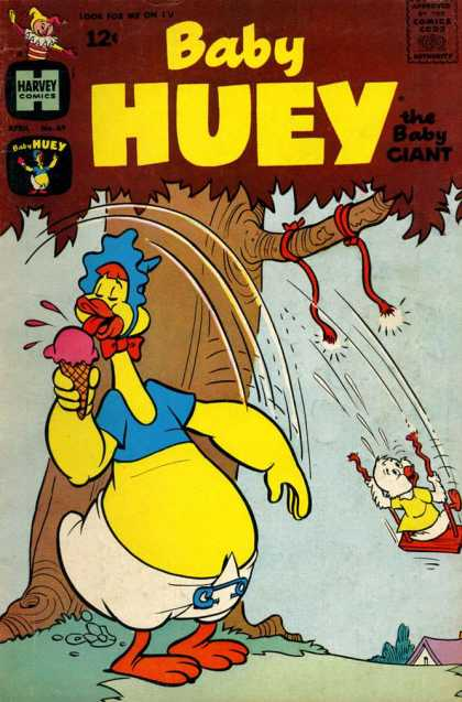 Baby Huey the Baby Giant 69 - Chicken - Ice Cream - Diaper - Tree - Swing