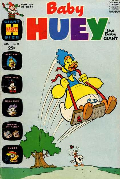 Baby Huey the Baby Giant 91 - Swing - Playing - Cord - Cut - Thrown