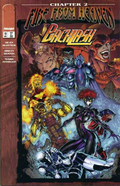 Backlash 19 - Image Comics - Fire From Heaven - Sean Ruffner - Brett Booth - Fire