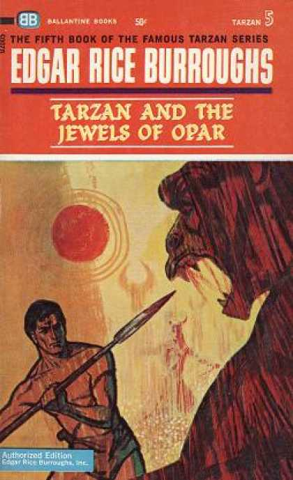 Ballantine Books - Tarzan and the Jewels of Opar (ballantine F749)