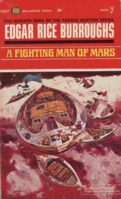 Ballantine Books - A Fighting Man of Mars (mass Market Paperback) (the Seventh Book of the Martian