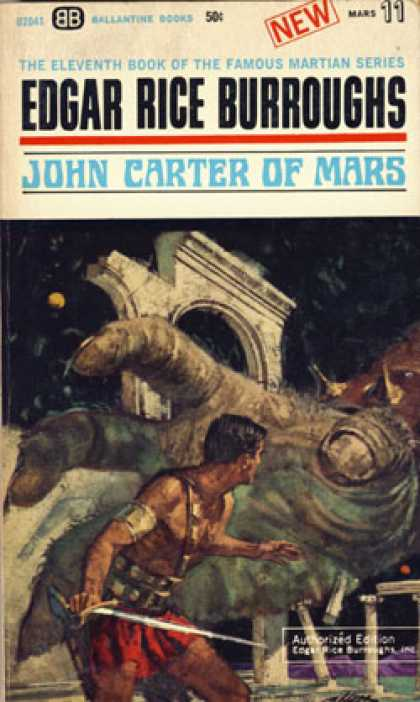Ballantine Books - John Carter of Mars (vintage Ballantine, U2041) - Edgar Rice Burroughs