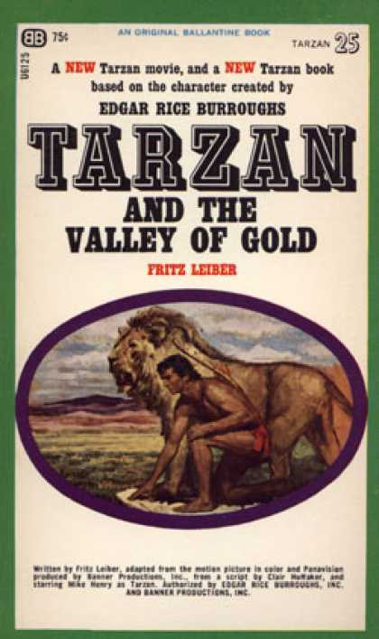 Ballantine Books - Tarzan and the Valley of Gold #25 - Fritz Leiber