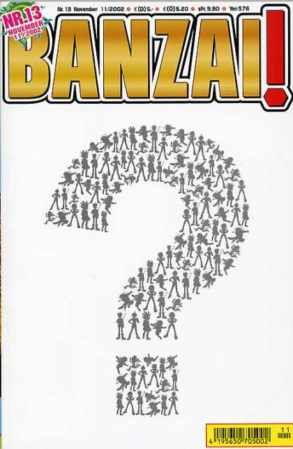 Banzai 13 - Nr13 - November - Question Mark - Original Art - 195650705002