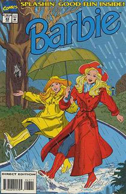 Barbie 43 - Singing In The Rain - Its Wet Out - Having A Good Time In The Rain - Barbie Has Fun In The Rain - Barbie And The Umbrella