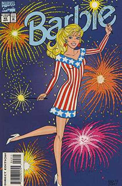 Barbie 45 - Fireworks - Sparkler - Blonde - Night