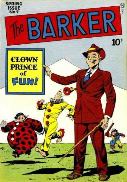 Barker 7 - Clowns - Man - Red Hat - Red Suit - Cane