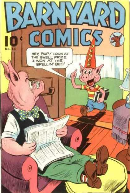 Barnyard Comics 11 - Pigs - Donkey - Door - Fance - Books