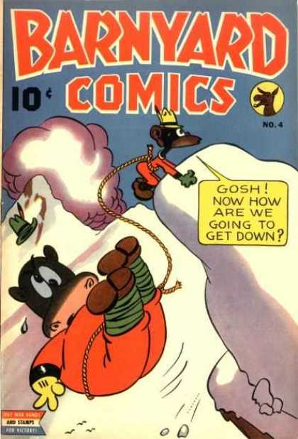 Barnyard Comics 4 - Gosh - Hippo - Monkey - Mountain - Climbing