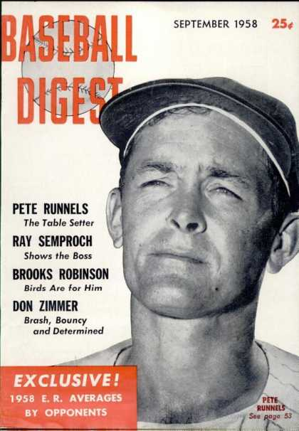 Baseball Digest - September 1958