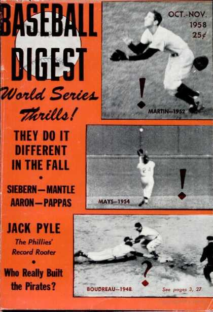 Baseball Digest - October 1958