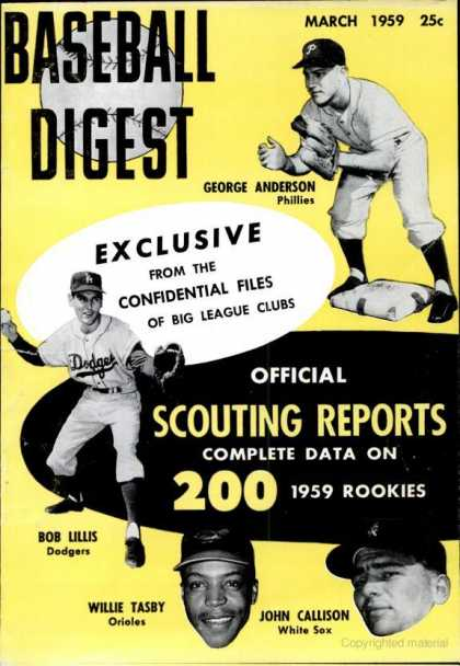 Baseball Digest - March 1959