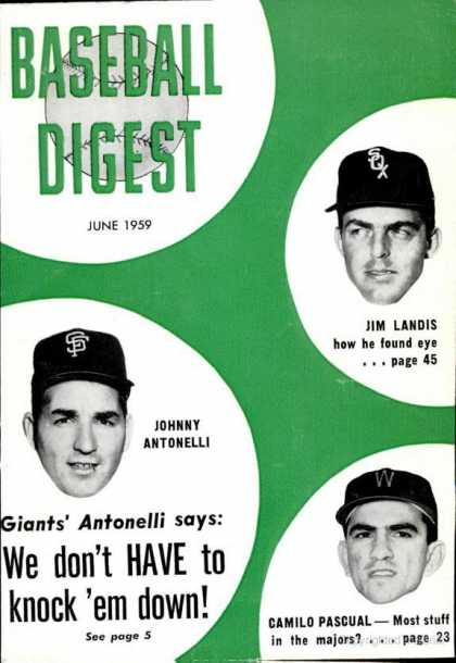 Baseball Digest - June 1959