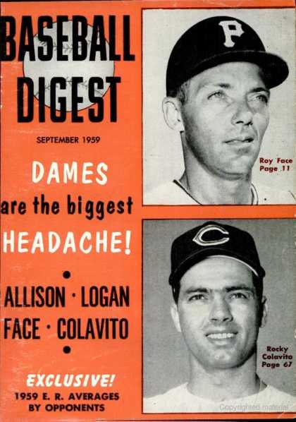 Baseball Digest - September 1959