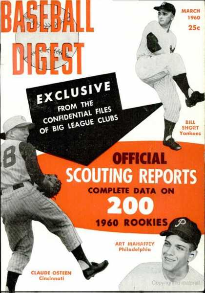 Baseball Digest - March 1960
