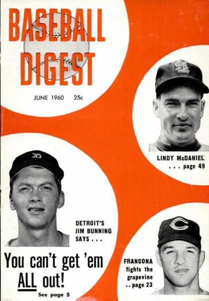 Baseball Digest - June 1960