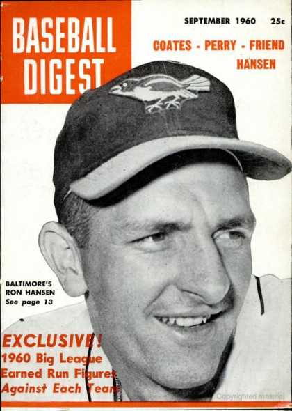 Baseball Digest - September 1960