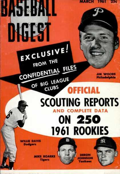 Baseball Digest - March 1961