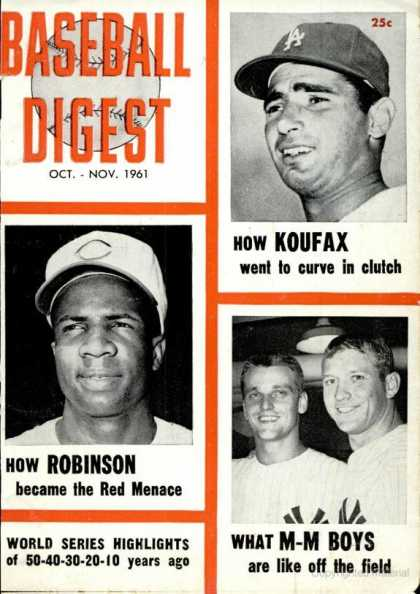 Baseball Digest - October 1961