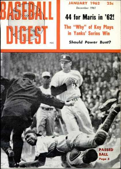 Baseball Digest - January 1962