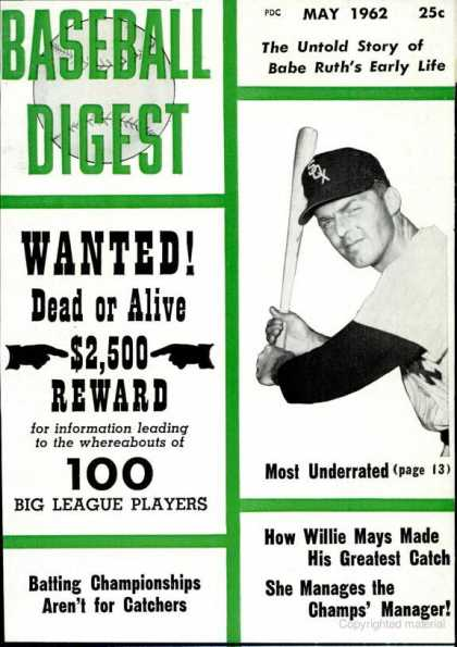 Baseball Digest - May 1962