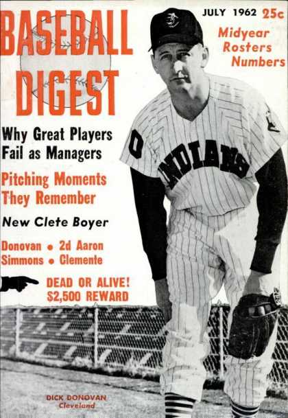 Baseball Digest - July 1962