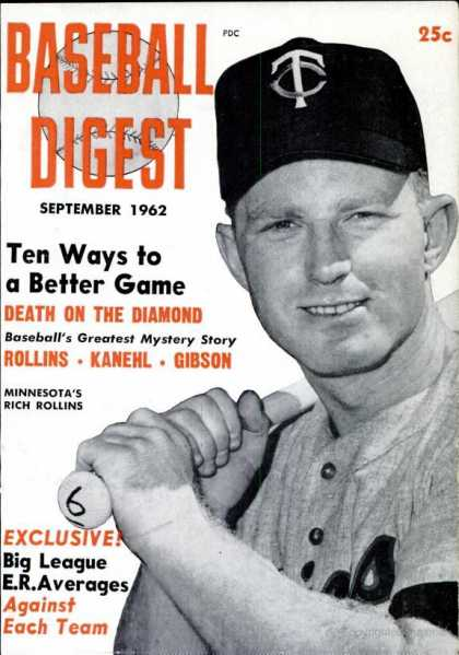 Baseball Digest - September 1962