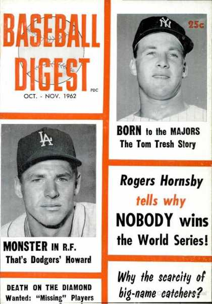 Baseball Digest - October 1962