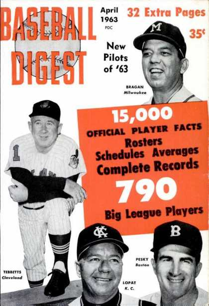 Baseball Digest - April 1963