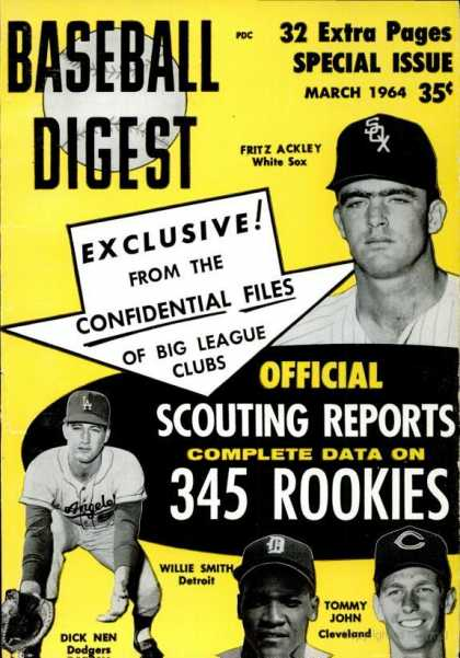 Baseball Digest - March 1964
