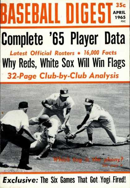Baseball Digest - April 1965