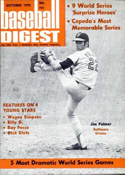 Baseball Digest - October 1970