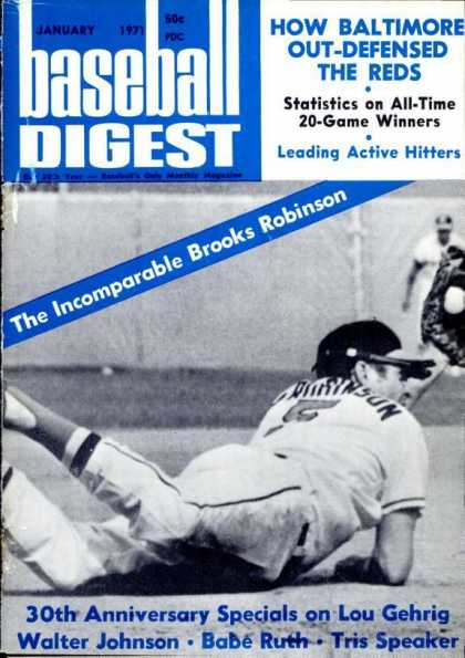 Baseball Digest - January 1971