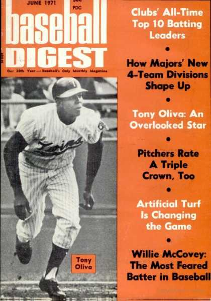 Baseball Digest - June 1971