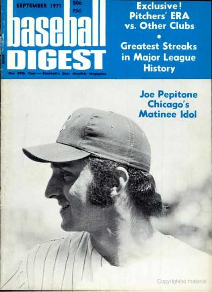 Baseball Digest - September 1971