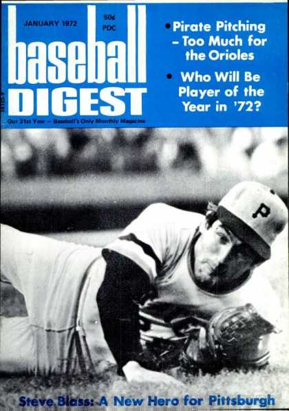 Baseball Digest - January 1972