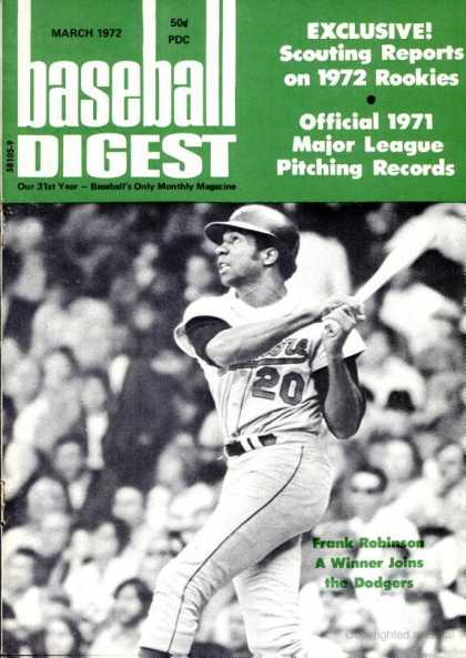 Baseball Digest - March 1972