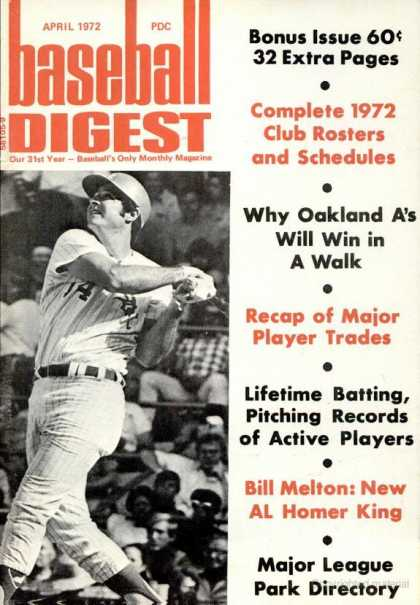 Baseball Digest - April 1972