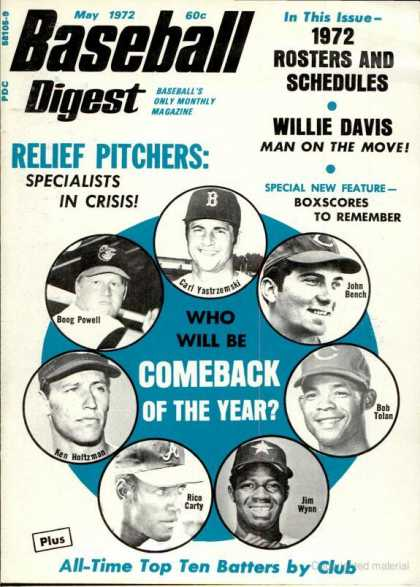 Baseball Digest - May 1972