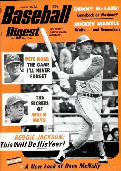 Baseball Digest - June 1972