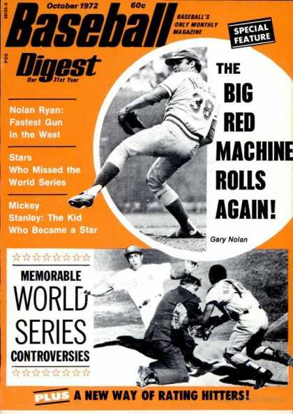 Baseball Digest - October 1972