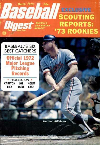 Baseball Digest - March 1973