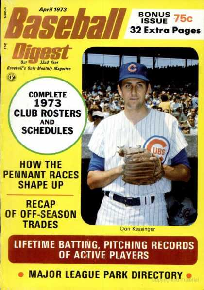 Baseball Digest - April 1973