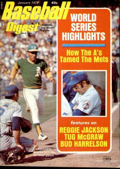 Baseball Digest - January 1974