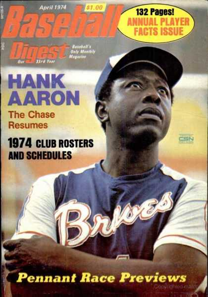 Baseball Digest - April 1974