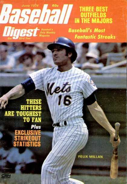 Baseball Digest - June 1974