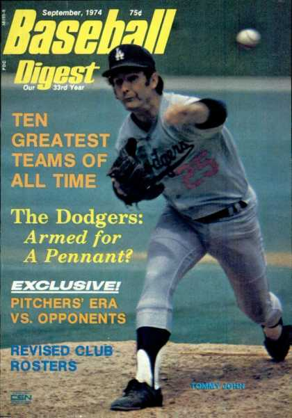 Baseball Digest - September 1974