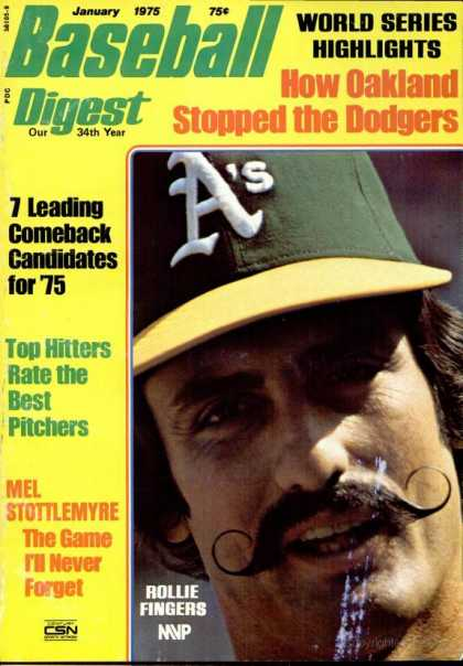 Baseball Digest - January 1975